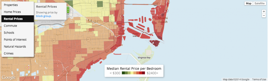 miami real estate heatmap